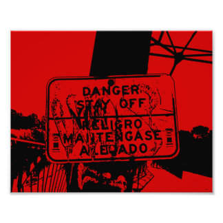 Danger Stay Off Sign Photo