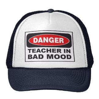 Danger, Teacher in bad mood Cap