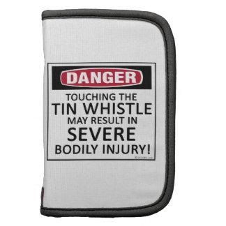 Danger Tin Whistle Folio Planner