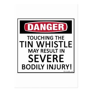 Danger Tin Whistle Postcard