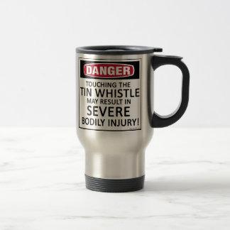 Danger Tin Whistle Stainless Steel Travel Mug