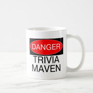 Danger - Trivia Maven Funny Trivia Night T-Shirt Basic White Mug