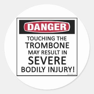 Danger Trombone Classic Round Sticker