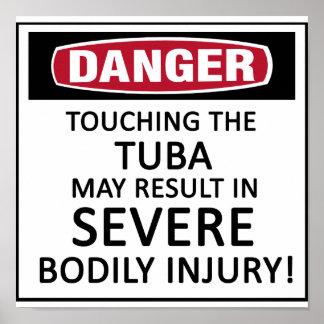 Danger Tuba Poster