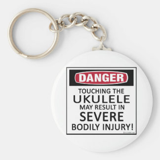 Danger Ukulele Basic Round Button Key Ring