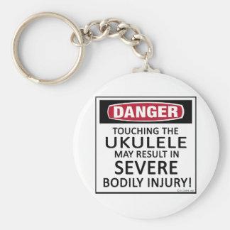 Danger Ukulele Basic Round Button Key Ring