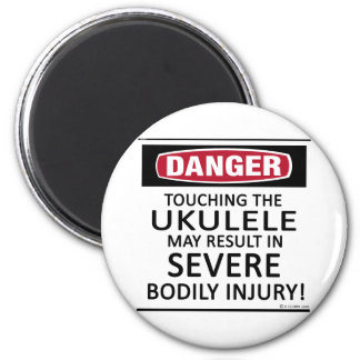 Danger Ukulele Magnet