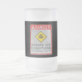 DANGER UNSAFE ICE FROSTED MUG