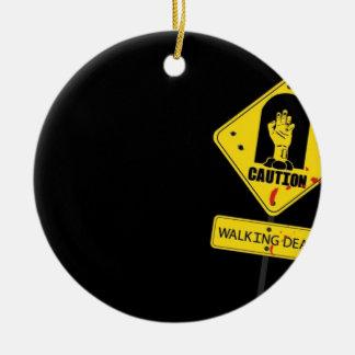 Danger Walking Zombies Christmas Ornament