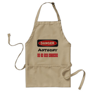 Danger Warning Funny Apron