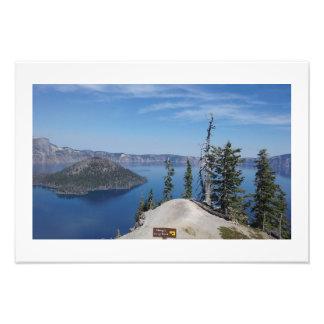 """""""Dangerous Cliffs"""" Crater Lake Photo Prints"""
