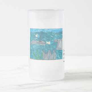 """""""Dangerous Creatures"""" Frosted Mug"""