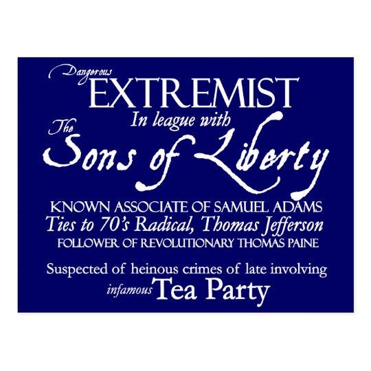 Dangerous Extremist 18th Century Style Poster Postcard
