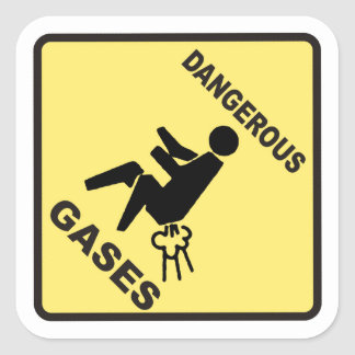 Dangerous Gases Square Sticker