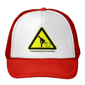 Dangerous Gases Warning Sign Cap