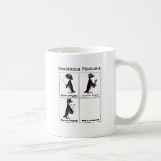 dangerous penguins basic white mug