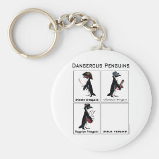 dangerous penguins key ring