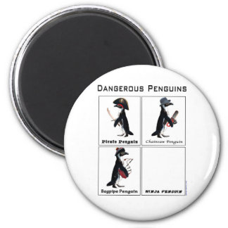 dangerous penguins magnet