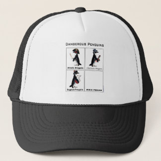 dangerous penguins trucker hat