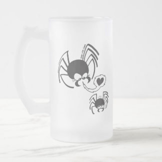 Dangerous Spider Love Frosted Glass Mug