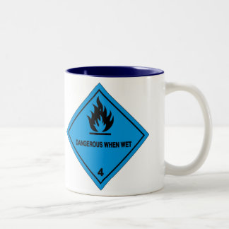 Dangerous when wet Two-Tone coffee mug