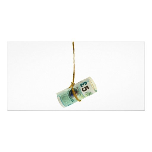 Dangling British pound Photo Greeting Card