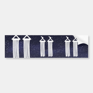 Dangling Curtains Pictogram Bumper Sticker