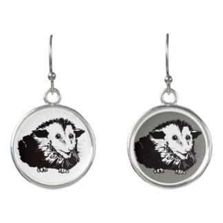 Dangling Earings with Possum Earrings