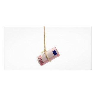 Dangling Euro dollar Photo Greeting Card