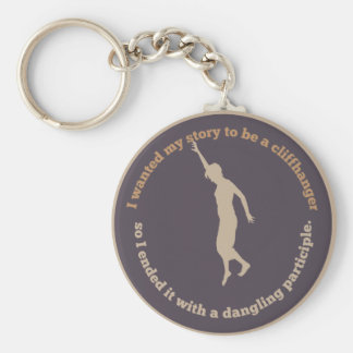 Dangling Participle Basic Round Button Key Ring