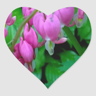 Dangling Pink Heats In The Garden Heart Sticker