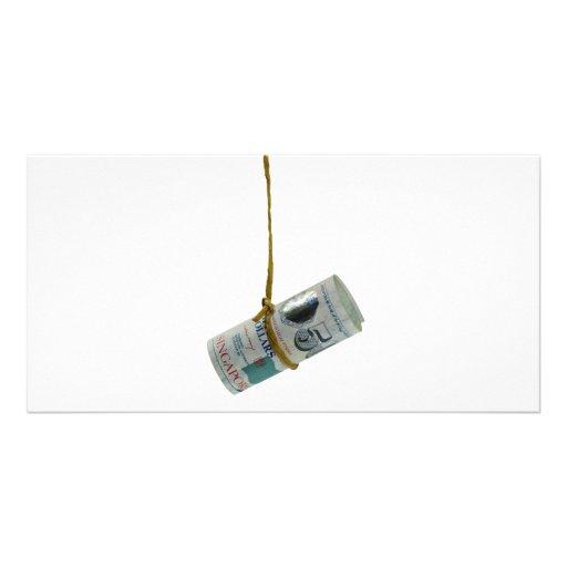 Dangling Singapore dollar Photo Card