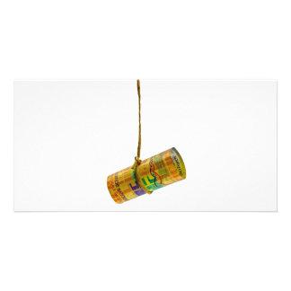 Dangling Swiss Franc Photo Greeting Card