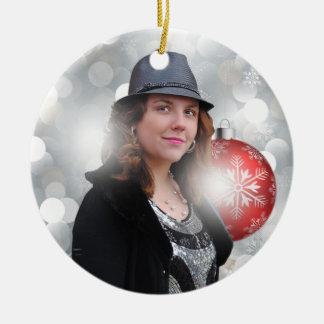 Dani-elle Silver Ceramic Christmas Ornament
