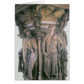 Daniel and Isaiah in Dispute, hexagonal pedestal Card