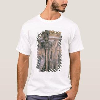 Daniel and Isaiah in Dispute, hexagonal pedestal T-Shirt