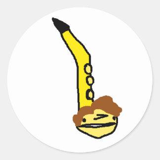 daniel as an otomatone round sticker
