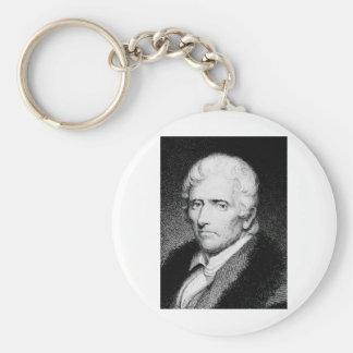 Daniel Boone ~ American Pioneer / Frontiersman Basic Round Button Key Ring