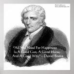 Daniel Boone & Humour Quote Poster