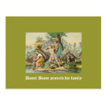 Daniel Boone protects his family Post Card