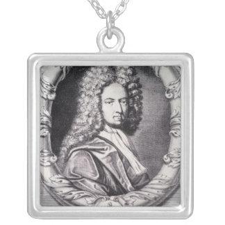 Daniel Defoe, engraved by Michael Van der Gucht Silver Plated Necklace