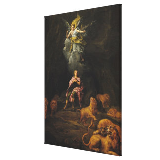 Daniel in the Den of Lions Canvas Print