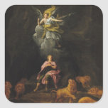 Daniel in the Den of Lions Square Sticker