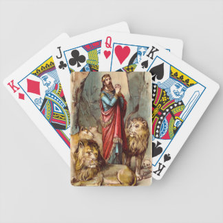 Daniel in the lion`s den playing cards