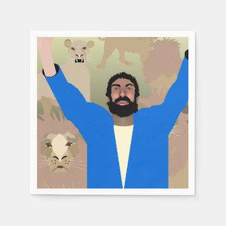 Daniel in the Lions' Den alt napkins Paper Napkins