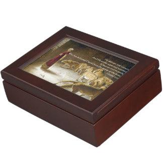Daniel in the Lion's Den Bible Art Scripture Keepsake Boxes