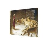 Daniel in the Lion's Den Bible Art Scripture Stretched Canvas Prints