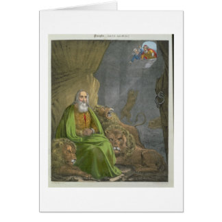 Daniel in the Lions' Den, from a bible printed by Card