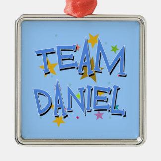 DANIEL Team Daniel Silver-Colored Square Decoration