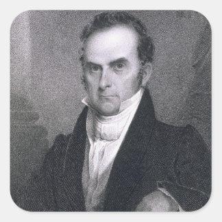 Daniel Webster (1782-1852) (engraving) Square Sticker